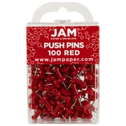 JAM Paper® Push Pins, Red, 100/Pack