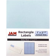 "Jam Paper 1"" x 2.63"" Inkjet/Laser Mailing Address Labels, Baby Blue 4/Pack (4052894)"