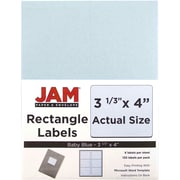 "Jam Paper 3.33"" x 4"" Inkjet/Laser Mailing Address Labels, Baby Blue, 20/Pack (4052898)"