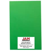 "JAM Paper 11"" x 17"" Brite Hue Recycled Paper, Astrobright Gamma Green, 100 Sheets/Pack"