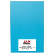 JAM Paper Tabloid Card Stock, Astrobright Celestial Blue, 50/Pack