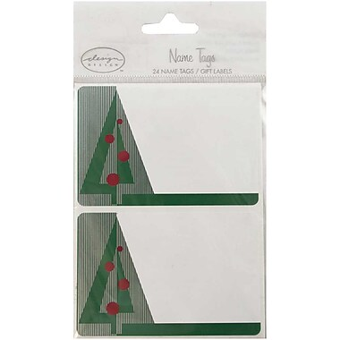 JAM Paper® Christmas Holiday Gift Label Name Tag Stickers, 2.25 x 3.5, Christmas Tree, 24/pack (167213409)