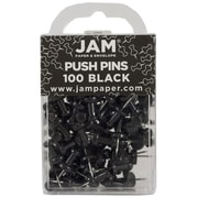 JAM Paper® Push Pins, Black, 100/Pack