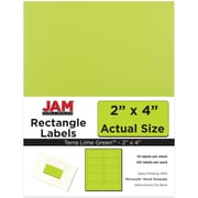 "Jam Paper 2"" x 4"" Inkjet/Laser Mailing Address Labels, Astrobright Terra Lime Green, 12/Pack (302724405)"