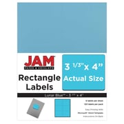 "Jam Paper 4"" x 3.33"" Inkjet/Laser Mailing Address Labels, Astrobright Lunar Blue, 12/Pack (302725770)"
