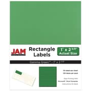 "Jam Paper 1"" x 2.63"" Inkjet/Laser Mailing Address Labels, Astrobright Gamma Green, 4/Pack (302725772)"