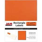 """Jam Paper 1"""" x 2.63"""" Inkjet/Laser Mailing Address Labels, Astrobright Cosmic Orange, 4/Pack (302725782)"""