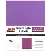 "Jam Paper 1"" x 2.63"" Inkjet/Laser Mailing Address Labels, Astrobright Planetary Purple, 4/Pack (302725788)"