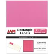 """Jam Paper 1"""" x 2.63"""" Inkjet/Laser Mailing Address Labels, Astrobright Pulsar Pink, 4/Pack (302725795)"""