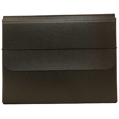 JAM Paper® Heavy Duty Chipboard Portfolios With Elastic Closure, 10 x 13 1/4 x 1 1/4, Black, Sold Individually (2154512315)