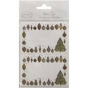 JAM Paper® Christmas Holiday Gift Label Name Tag Stickers, 2.25 x 3.5, Gold Ornament, 24/pack (2167213412)