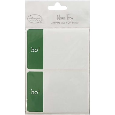 JAM Paper® Christmas Holiday Gift Label Name Tag Stickers, 2.25 x 3.5, Ho Ho Ho, 24/pack (2167213413)