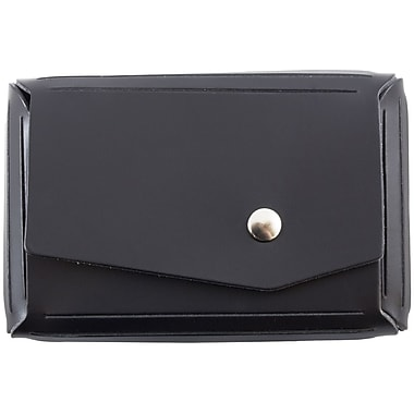 JAM Paper® Leather Business Card Case With Angular Flap, Black, Sold Individually