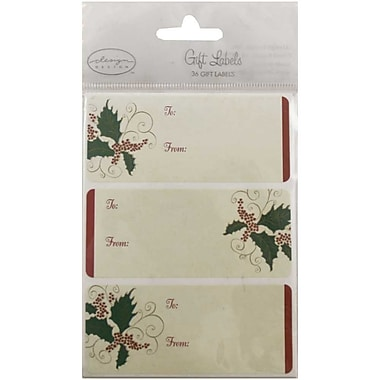 JAM Paper® Christmas Holiday Gift Label Name Tag Stickers, 2.25 x 3.5, Ivory To From, 24/pack (3267215456)