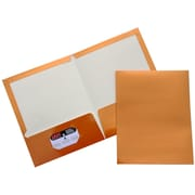 JAM Paper® Two Pocket Glossy Folder, Metallic Copper, Sold Individually