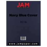 "JAM Paper® 80 lb. 8 1/2"" x 11"" Cardstock, Navy Blue, 50 Sheets/Pack"