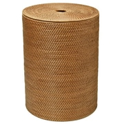 Kouboo Round Rattan Laundry Hamper with Cotton Liner