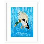 Melissa Van Hise Duck Landing by Ramon Matheu Framed Graphic Art