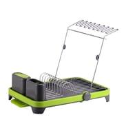 Hopeful Enterprise Deluxe Multi-Function Dish rack; Green/Gray