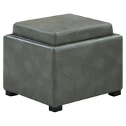 Emerald Home Furnishings Cube Storage Ottoman II; Grey