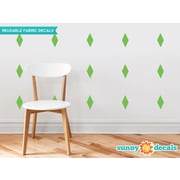 Sunny Decals Diamond Fabric Wall Decal (Set of 16); Green