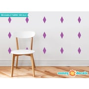 Sunny Decals Diamond Fabric Wall Decal (Set of 16); Purple