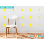 Sunny Decals Diamond Fabric Wall Decal (Set of 16); Yellow