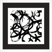 Melissa Van Hise Symbols in Black and White III Framed Graphic Art