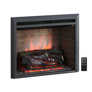 Puraflame 33 39 39 Black 750 1500w Western Wall Mount Electric Fireplace Insert 33 39 39 Staples