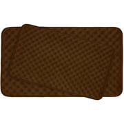 Bath Studio Massage 2 Piece Premium Micro Plush Memory Foam Bath Mat Set (Set of 2); Chocolate