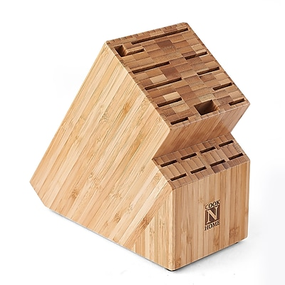 Cook N Home Cook N Home Bamboo 19 Slot Knife Storage Block WYF078275642874
