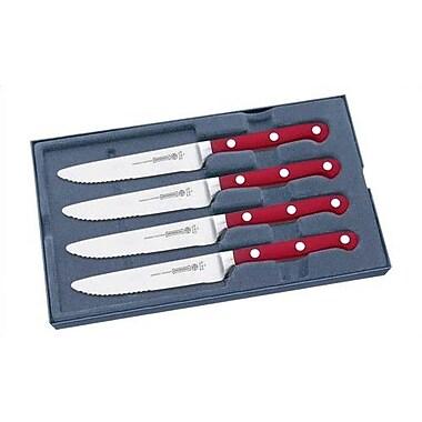 Mundial 5100 Series 5'' Steak Knife Set (Set of 4); Red