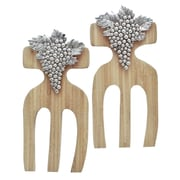 Thirstystone Grapes Bamboo Salad Hands (Set of 2)