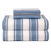 Celeste Home Celeste Home Ultra Soft Flannel Sheet Set in Blue & White; Twin