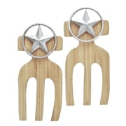 Thirstystone Western Star Bamboo Salad Hands (Set of 2)