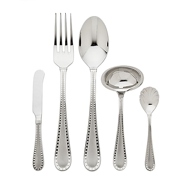 Ricci Argentieri Rivets 5 Piece Hostess Set; Shiny