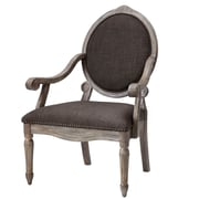 Madison Park Madison Park Brentwood Oval Back Exposed Wood Arm Chair; Grey