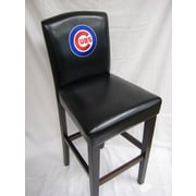 Imperial MLB 24'' Bar Stool with Cushion (Set of 2); Chicago Cubs