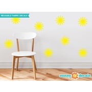 Sunny Decals Starburst Fabric Wall Decal (Set of 8); Yellow