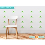 Sunny Decals Wide Triangle Fabric Wall Decal (Set of 32); Green