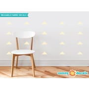 Sunny Decals Wide Triangle Fabric Wall Decal (Set of 32); Ivory