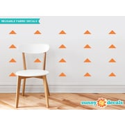 Sunny Decals Wide Triangle Fabric Wall Decal (Set of 32); Orange