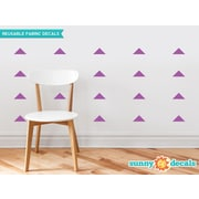 Sunny Decals Wide Triangle Fabric Wall Decal (Set of 32); Purple
