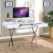 InRoom Designs Computer Desk with 2 Drawers; White