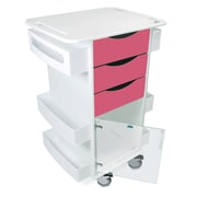 TrippNT Core Dx AV Cart with Hinged Door; Watermelon Pink