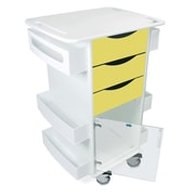 TrippNT Core Dx AV Cart with Hinged Door; Bright Idea Yellow