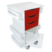 TrippNT Core Dx Cart with Hinged Door; Cherry Red