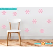 Sunny Decals Flower Fabric Wall Decal (Set of 9); Pink