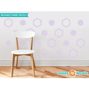 Sunny Decals Hexagon Fabric Wall Decal (Set of 16); Light Purple