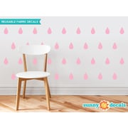 Sunny Decals Raindrop Fabric Wall Decal (Set of 40); Pink